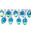 Rhinestone Trim Drops By Yard 35mm Aquamarine Aurora Borealis/silver